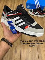 Кроссы мужские Adidas Drop Step стильные кожаные кроссовки адидас черные с белым бежевые