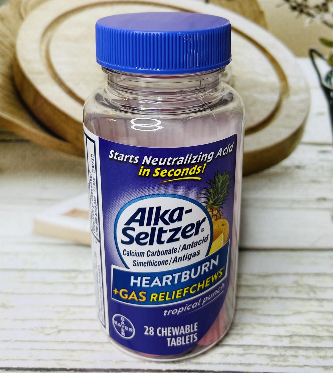 Цукерки від печії і полегшення газів BAYER Alka Seltzer Heartburn Relief Gas Relief Chews