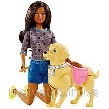 Лялька Барбі Прогулянка з цуценям брюнетка Barbie Doll And Walk Potty Pup
