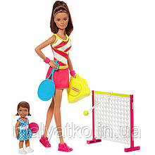 Лялька Барбі Теніс інструктор Barbie Careers Tennis Coach DVG15