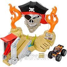 Hot Wheels Трек Тэйкдаун пірата з машинкою монстр джам Monster Jam Pirate Takedown Play Set