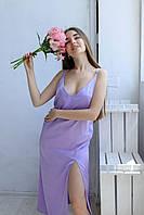 Женское шелковое платье меди шелк Армани 10 цветов S M L M, Лиловый