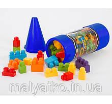 Конструктор детский Crayola Blocks Crayon Tube, крупные детали 40шт синий