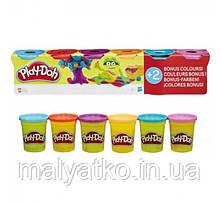 Набор пластилина Play-Doh 6 баночек общим весом 672 грамма B6752