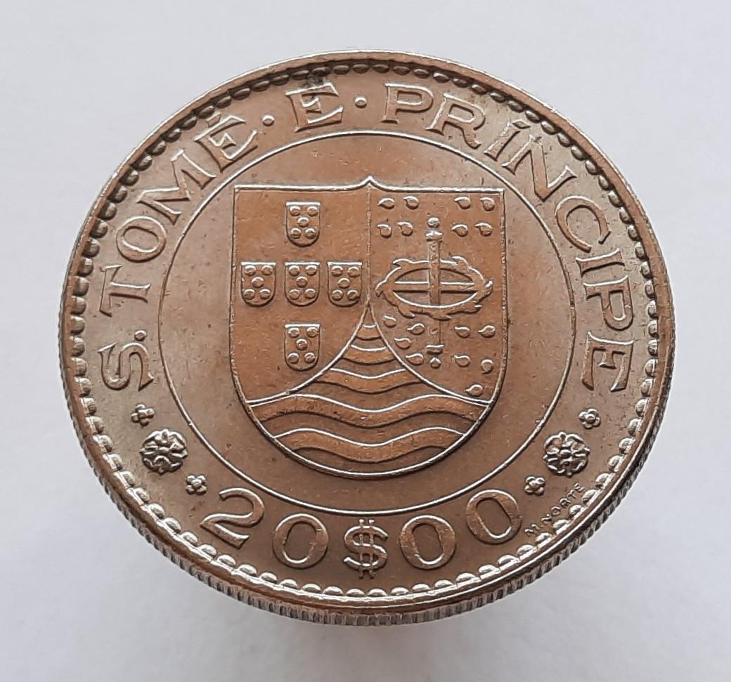 Португальский Сан-Томе и Принсипи 20 эскудо 1971