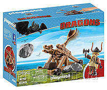 ПОД ЗАКАЗ 20+- ДНЕЙ Playmobil 9245  Гоббер с катапультой  How to Train Your Dragon Gobber