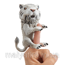 Интерактивный ручной саблезубый тигр 3971   WowWee Fingerlings Silvertooth Silver Sabre Tooth Tiger