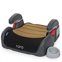 Детские автокресла бустеры автомобильные для детей авто ребенка дитяче black roro с подлокотником