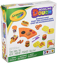 Crayola Тесто для лепки бургер Modeling Dough Burger Chef Kit 11 pieces