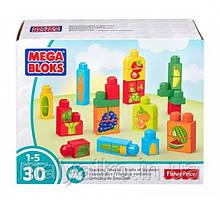 Mega Bloks конструктор пазл Овощи и фрукты 30 деталей First Builders Stacking Snacks Building Kit