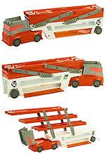Причіп автовоз вантажівка хот вілс на 50 машинок помаранчевий Hot Wheels Mega Hauler, Mega Hauler Truck-Orange