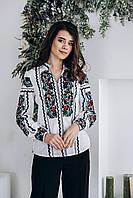 Жіноча блуза з вишивкою Скиба СК2751 білий з візерунком р.40