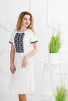 Жіноча вишита сукня Скиба СК6622 молочний з візерунком р.36