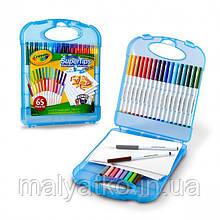 Набор Crayola 65 предметов Colored Pencil Kits with Super Tips Travel Art Set