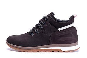 Мужские зимние кожаные ботинки ZG Chocolate Crossfit р.45