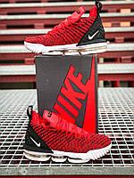 Кроссовки мужские Nike LeBron 16 Red / Найк Леброн 16 красные текстильные