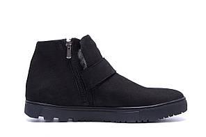Мужские зимние кожаные ботинки ZG Black Night New р.44