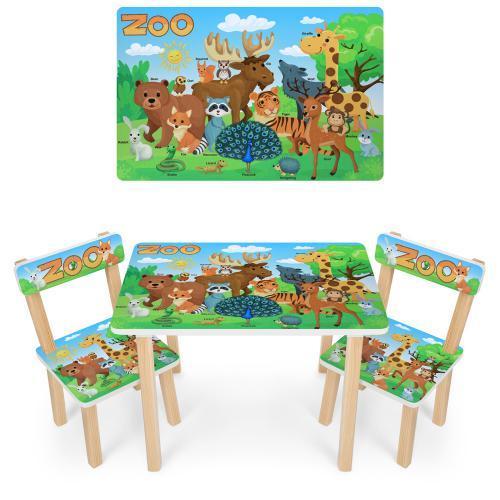 Дитячий столик і стільчики 501-109 (EN) Зоопарк
