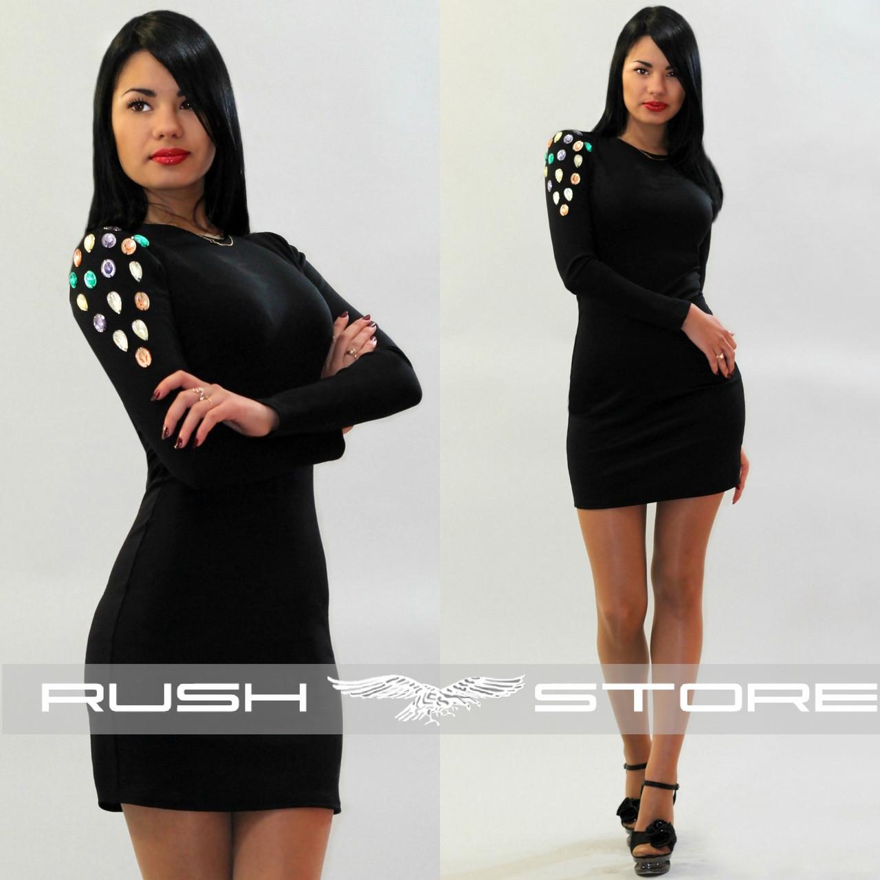a88e025edb74 Платье с камнями на плече - RUSH STORE интернет-магазин женской одежды в  Николаеве