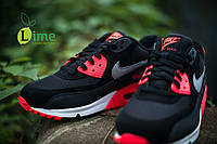 Кроссовки, NIke Air Max 90 Premium Black/Infrared, фото 1
