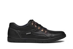 Мужские кожаные туфли Leather black shoes р.40