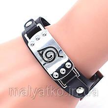 Аксессуар Наруто: Браслет с регулируемой застежкой, символ деревни Коноха  - Naruto bracelet2