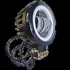 Фара светодиодная LED противотуманная круглая 30W + LED кольцо с четкой световой границей, фото 8