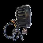 Фара светодиодная LED противотуманная круглая 30W + LED кольцо с четкой световой границей, фото 9