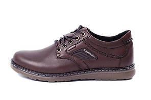 Мужские кожаные туфли Kristan brown р.43