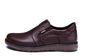 Мужские кожаные туфли Kristan brown old school р.40