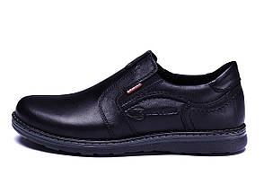 Мужские кожаные туфли Kristan black old school р.45