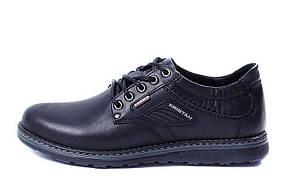 Мужские кожаные туфли Kristan black р.42