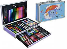 Дитячий художній набір для малювання Art Set в чемодані блакитний
