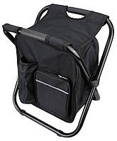 Стілець - рюкзак складаний 3 в 1 з термосумкою чорний