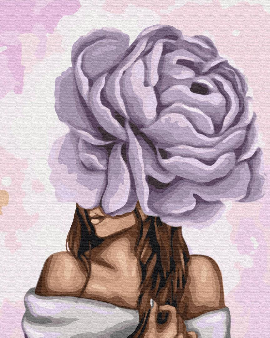 Дама з фіолетовим піоном