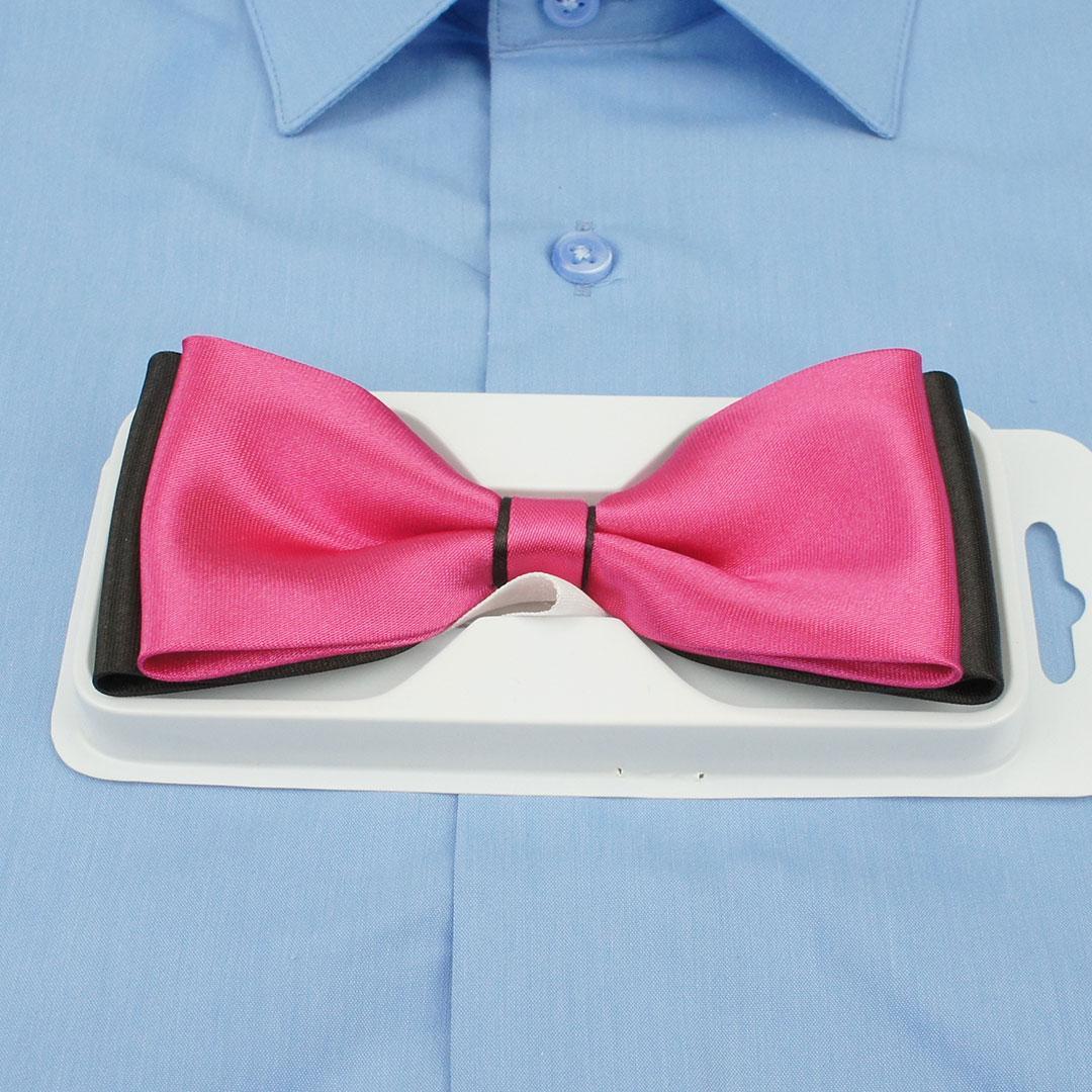 Бабочка мужская розовая Grek 0150 Rose