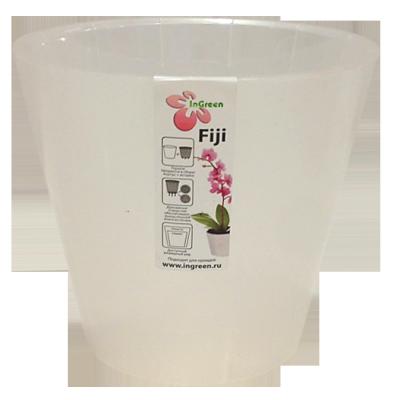 Горшок для цветов Фиджи Орхид D 160 мм / 1,6 л белый перламутровый