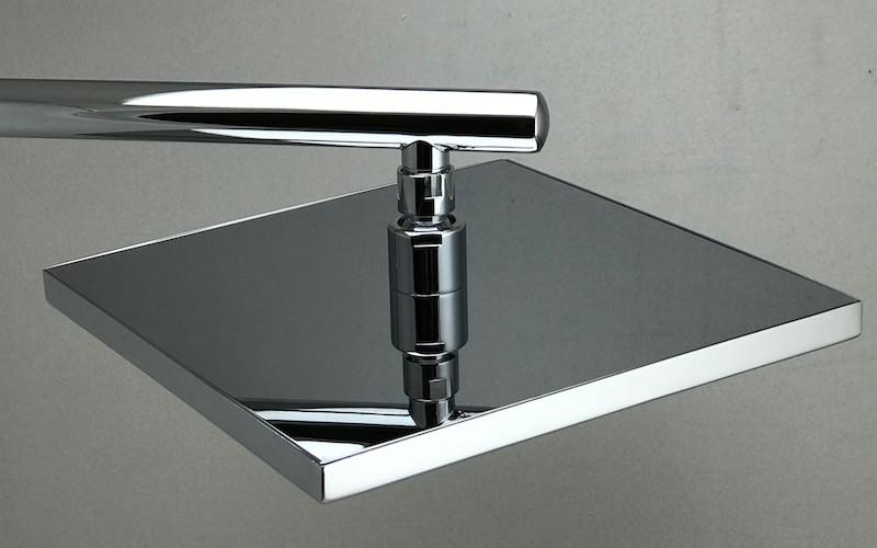 Лейка квадратная для душа из хромированной латуни 250 мм LD-11.SN12-250