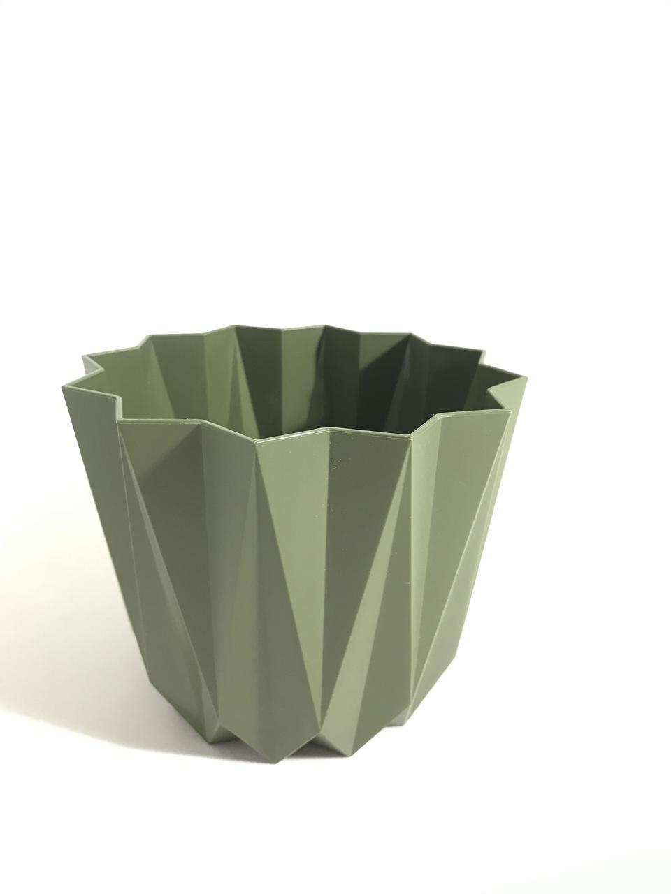 "Горшок ""ПРИЗМА"" 2,25л 155х155х127 зеленый"