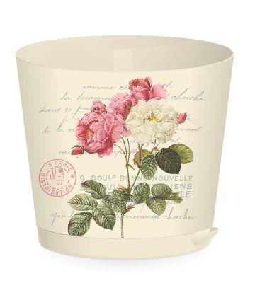 Горщик для квітів Easy Grow D 160 з прикореневим поливом 2 л, Вершковий Прованс