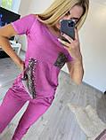 Женский трикотажный костюм  (Турция); размеры S, M, 2 цвета., фото 2