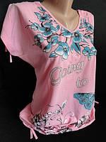 Молодежная женская футболка с завязками на плечах, фото 1