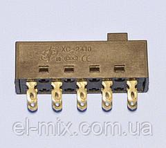 Переключатель ползунковый 4 положения 2х5pin на фен XC2410