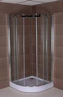 Полукруглая душевая кабина Aqua-World Roller RL9090R ДкРр.90-Im стекло интимато, фото 1