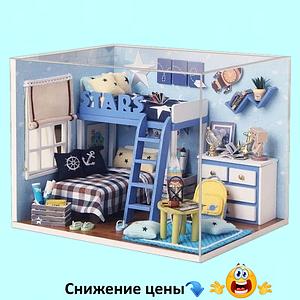 """Будиночок """"Sky Stars"""" - Конструктор для дітей з дерева, ляльковий будиночок, модель будиночка ручної збірки, 3D пазл"""