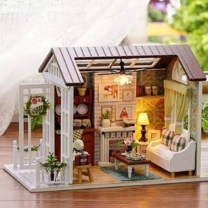 """Будиночок """"Ностальгія"""" - Конструктор для дітей з дерева, ляльковий будиночок, модель будиночка ручної збірки, 3D пазл"""