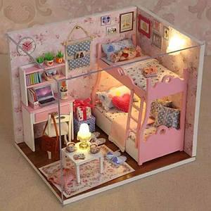 """Будиночок """"Сестрички"""" - Конструктор для дітей з дерева, ляльковий будиночок, модель будиночка ручної збірки, 3D пазл"""