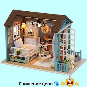 """Будиночок """"Марсель"""" - Конструктор для дітей з дерева, ляльковий будиночок, модель будиночка ручної збірки"""