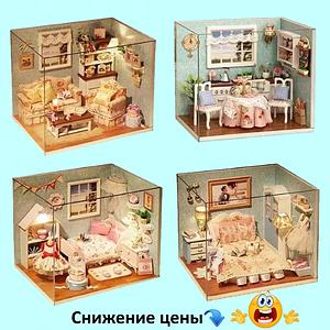 """Будиночок """"Верона"""" - Конструктор для дітей з дерева, ляльковий будиночок, модель будиночка ручної збірки"""