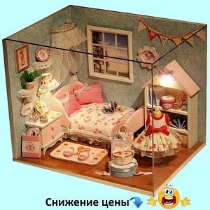 """Будиночок """"Верона - Дитяча"""" - Конструктор для дітей з дерева, ляльковий будиночок, модель будиночка ручної збірки"""
